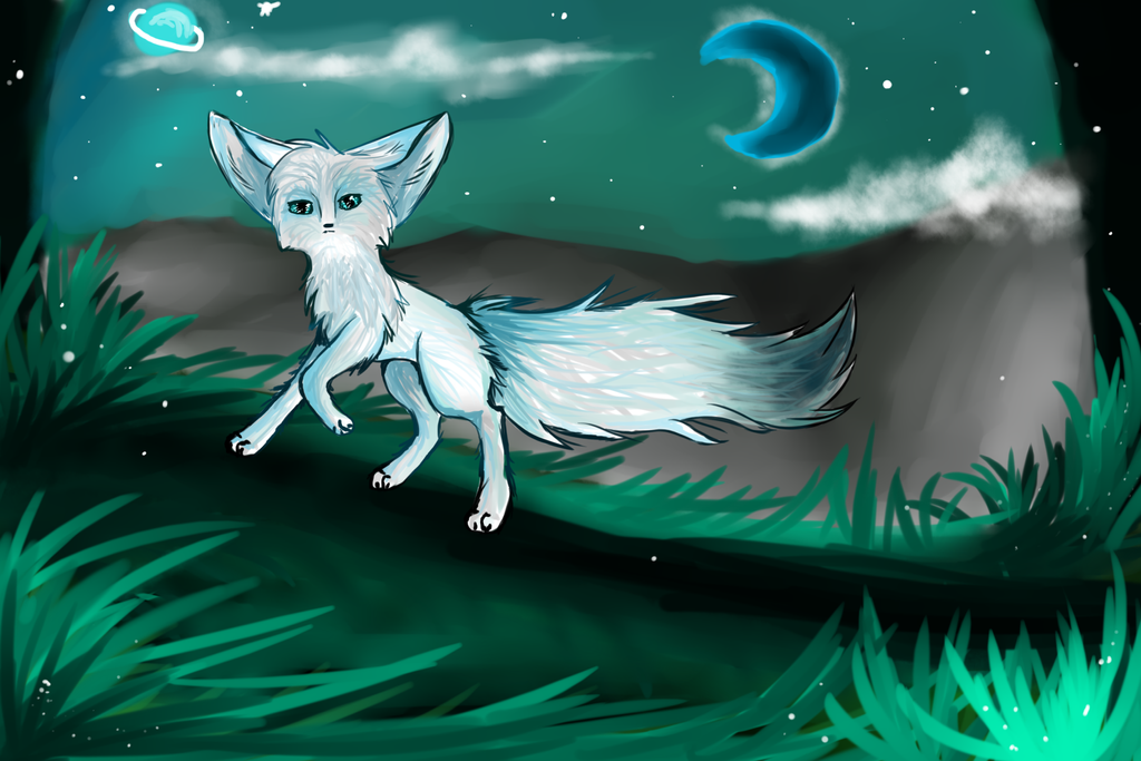 Midnight fox by Aguawolf