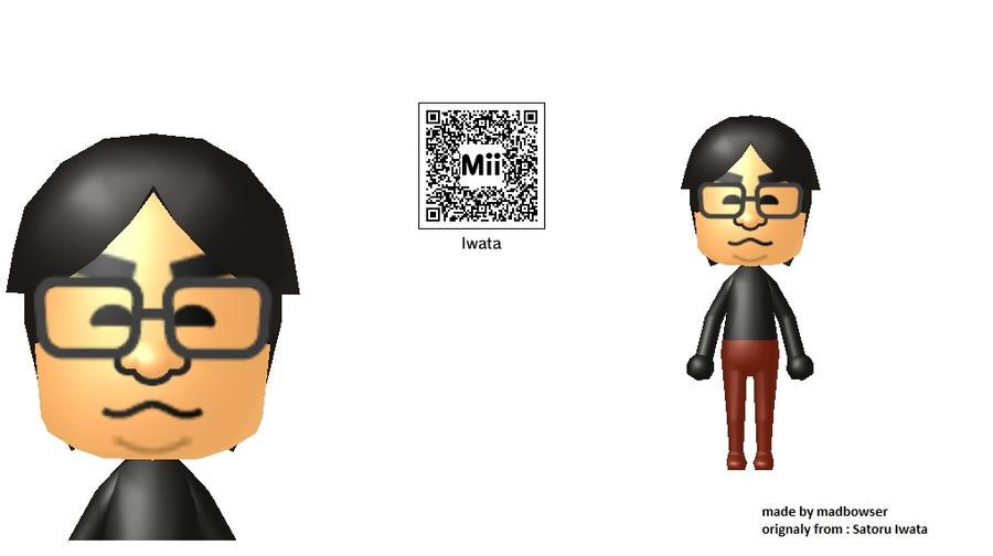 Anime Mii Characters 3ds : Mii qr codes satoru iwata by madbowser on deviantart