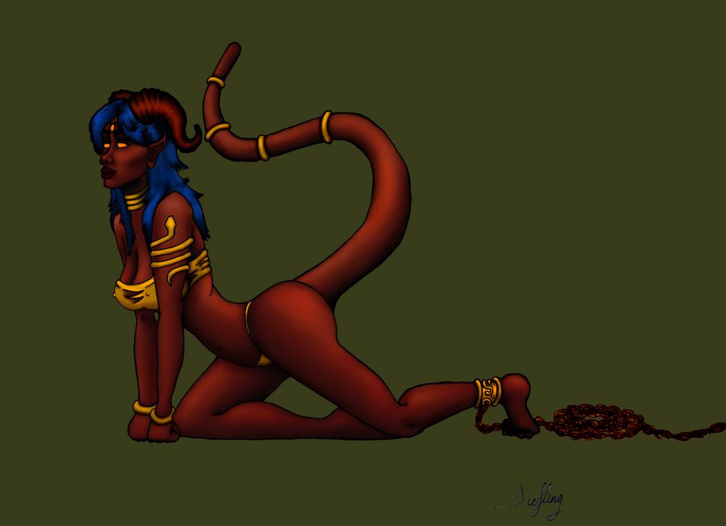 Tiefling Slave girl by Argantara