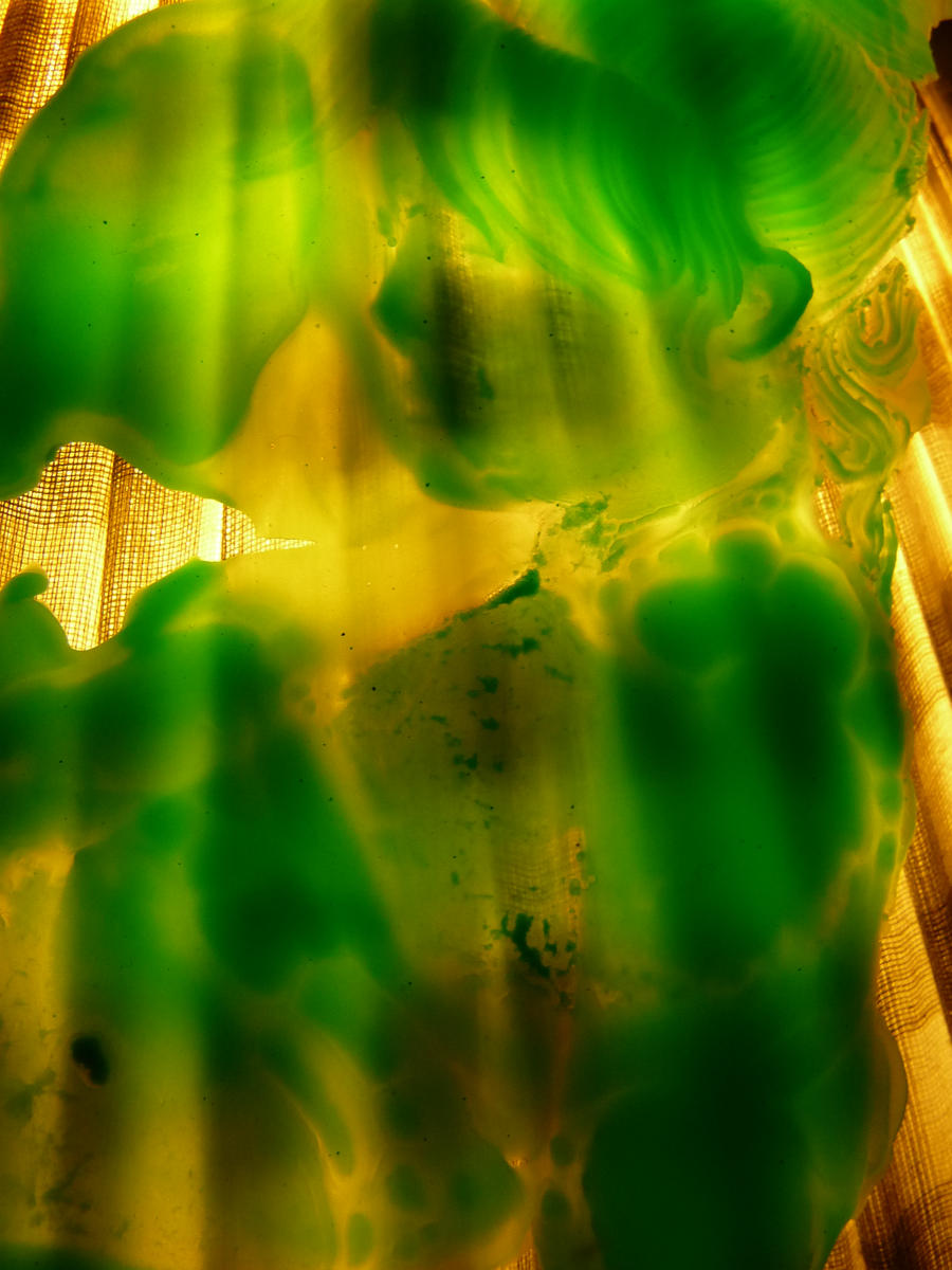 green transparent woman by mikestevenson1955