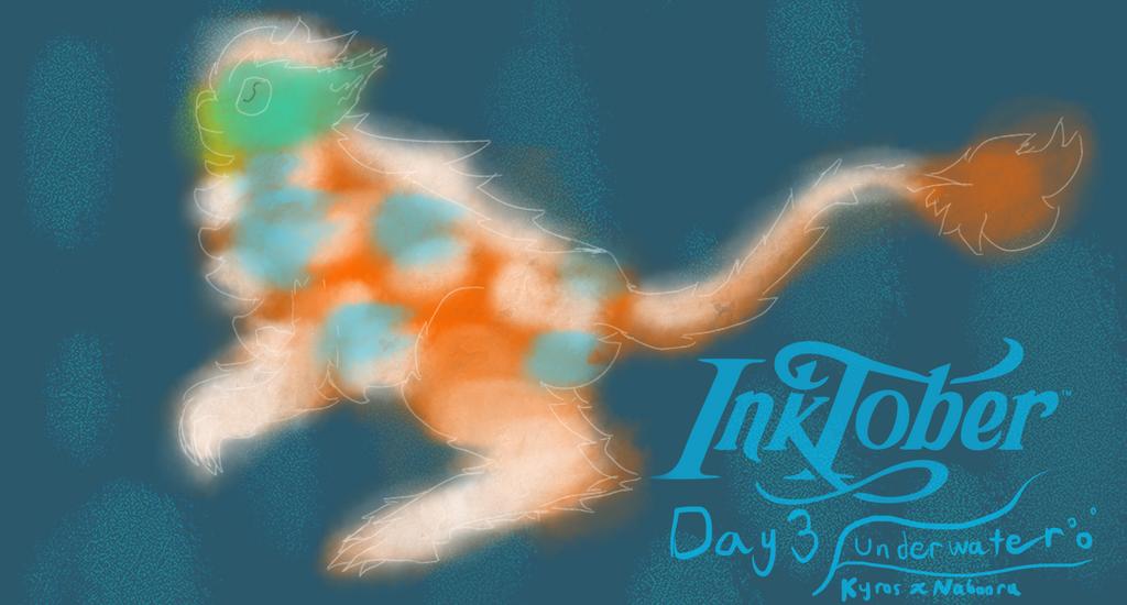 Inktober 2017 Day 4 (Underwater : Kyros x Nabooru) by TempLily