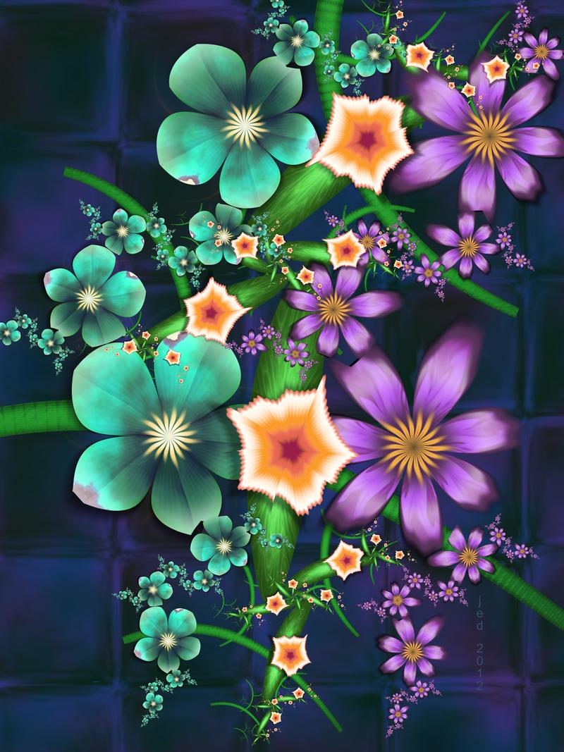 Flowers Crop 2012 by 21citrouilles