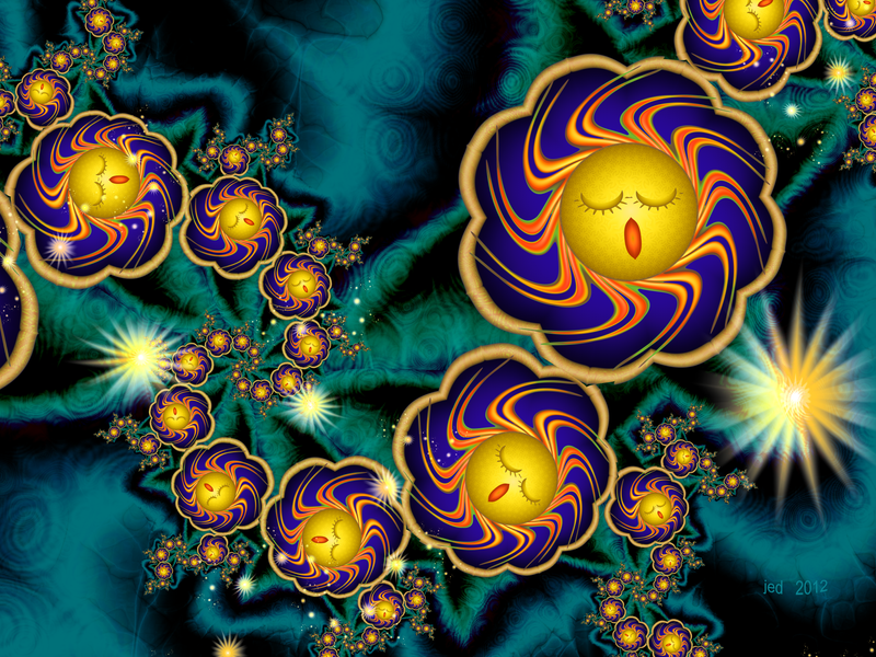 Sleepy Whirling Little Suns by 21citrouilles