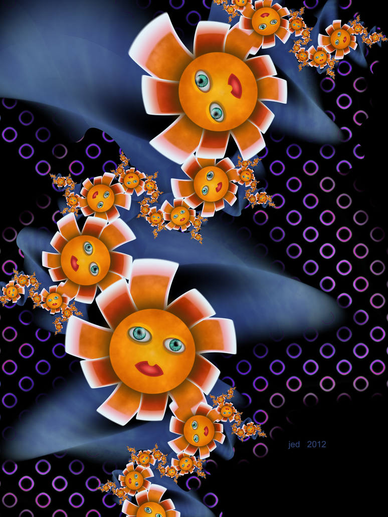 Orange Baby Flowers by 21citrouilles