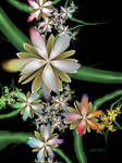 Silk Flowers Making Poetry At Night