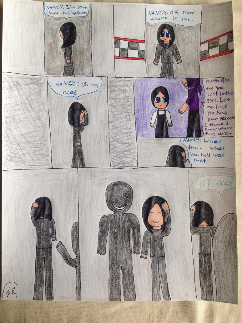 Ch.1 pg 11 Memories and Purple Guy Appearance by SadnessFemBoy2016