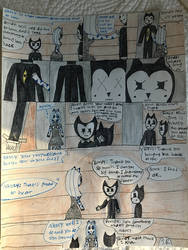 Nancy and Bendy first encounter pg.3 Boris is back by SadnessFemBoy2016