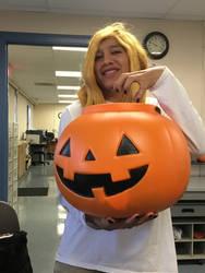 Deidara with the pumpkin