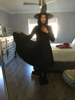 Me as a witch for Halloween