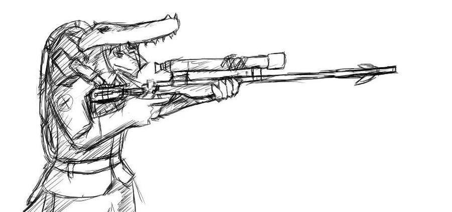 Ty Savarin The Sydney Sniper WIP by Tysavarin