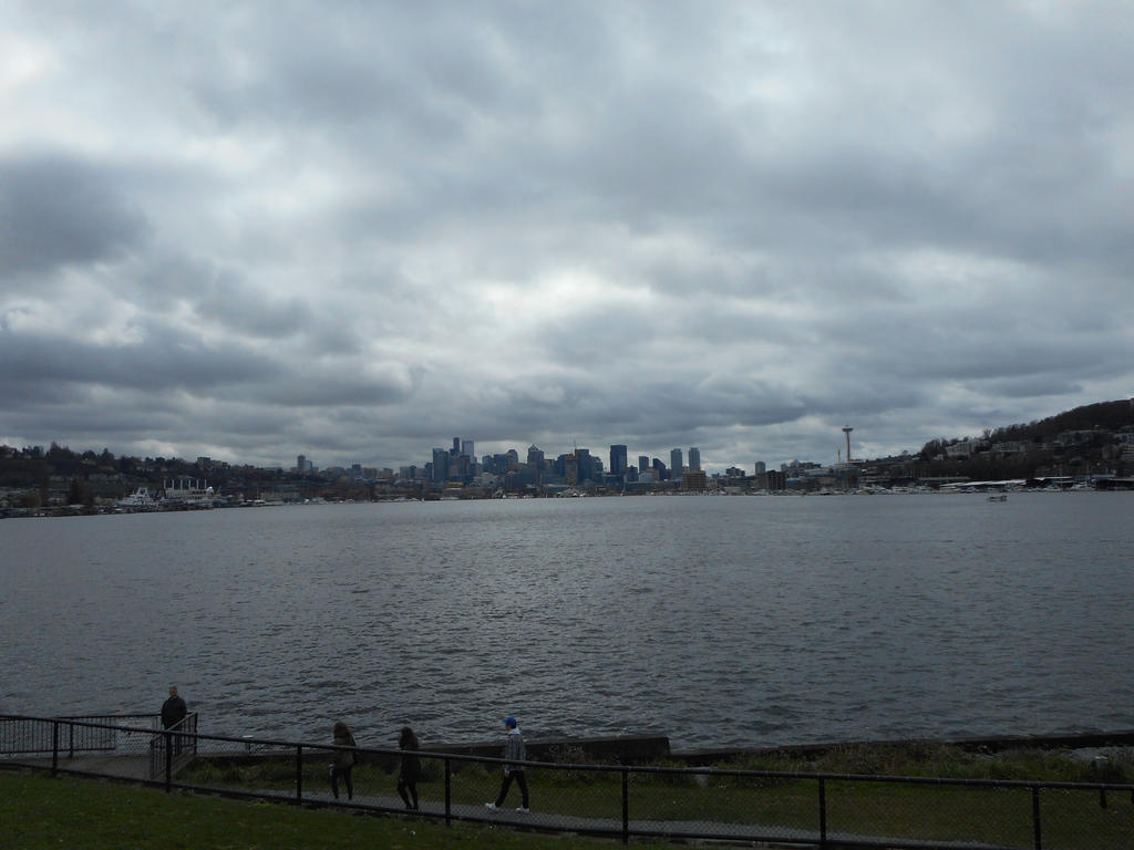 Seattle over the water by Wintersmith6