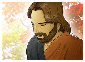 Smiling Jesus by beckzera