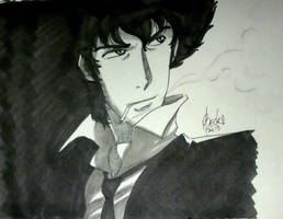 Quick Sketch #02 - Cowboy Bebop by beckzera