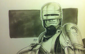 Robocop (Quick Sketch) by beckzera