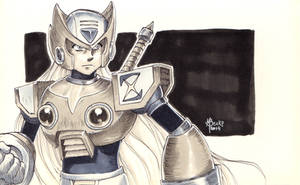 Zero from Megaman X (Quick Sketch) by beckzera