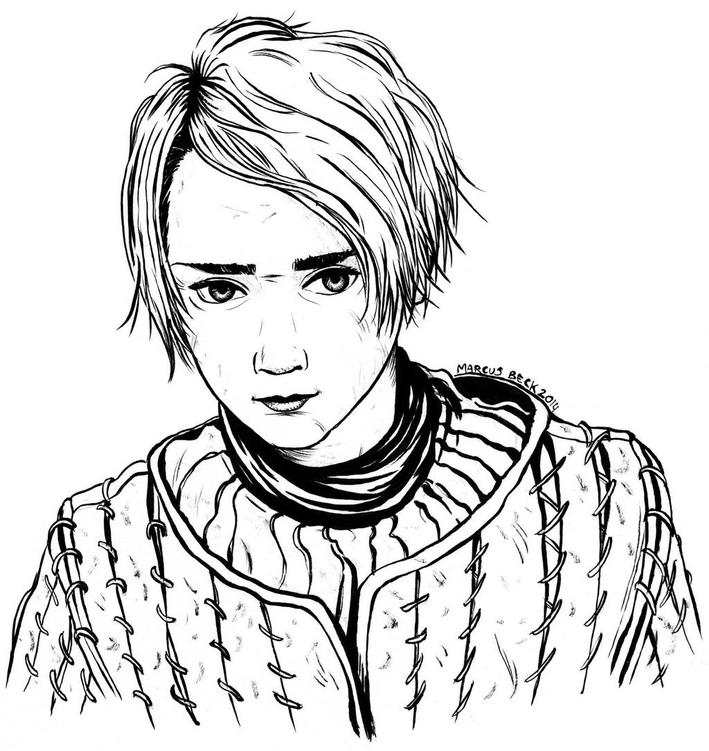 D Line Drawing Game : Arya stark from game of thrones by beckzera on deviantart