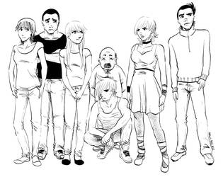 Personagens de Tailer by beckzera