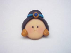 Princess Jasmine Polymer Clay Chibi Head