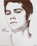 Dylan O'Brien Coloured Pencil grey scale
