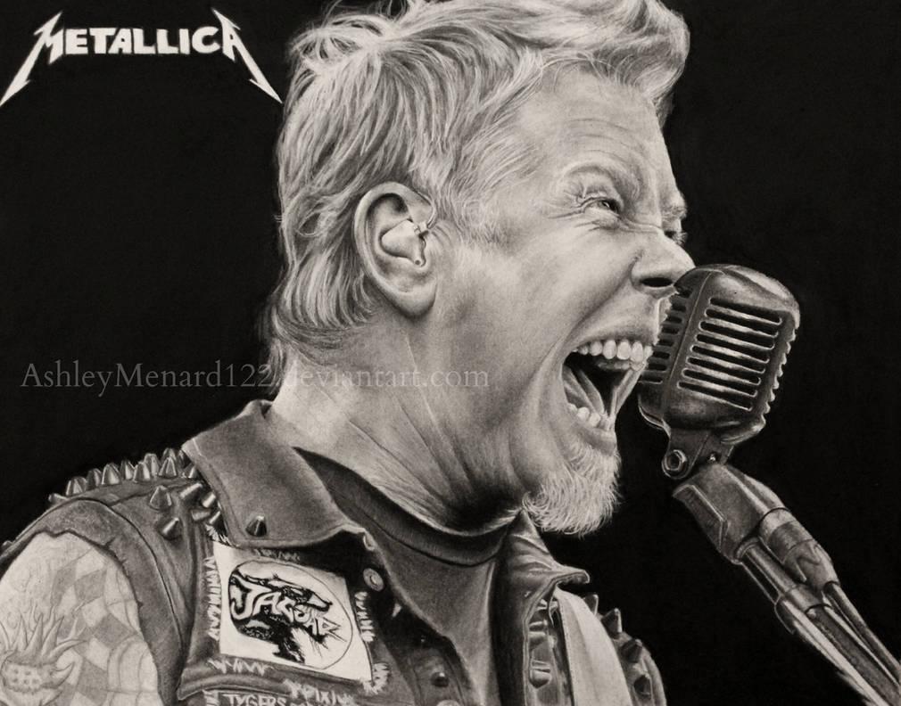 James Hetfield Metallica drawing