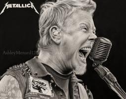 James Hetfield Metallica drawing by ashleymenard122