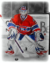 Carey Price PrismaColor and Graphite Portrait by ashleymenard122
