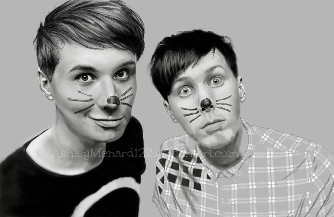 Dan And Phil W I P 2 Digitial Portrait By Ashleymenard122