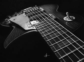 White Charcoal Les Paul Guitar by ashleymenard122