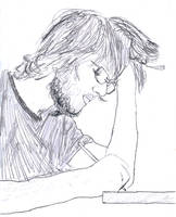 Andrew writing by f1f1s