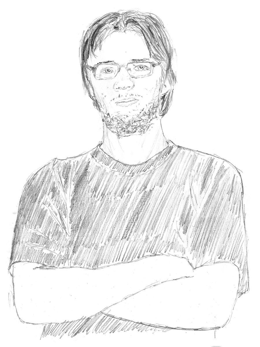 Self-portrait with a fluffy beard