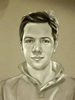 Unknown young male (unknown artist, crayon)