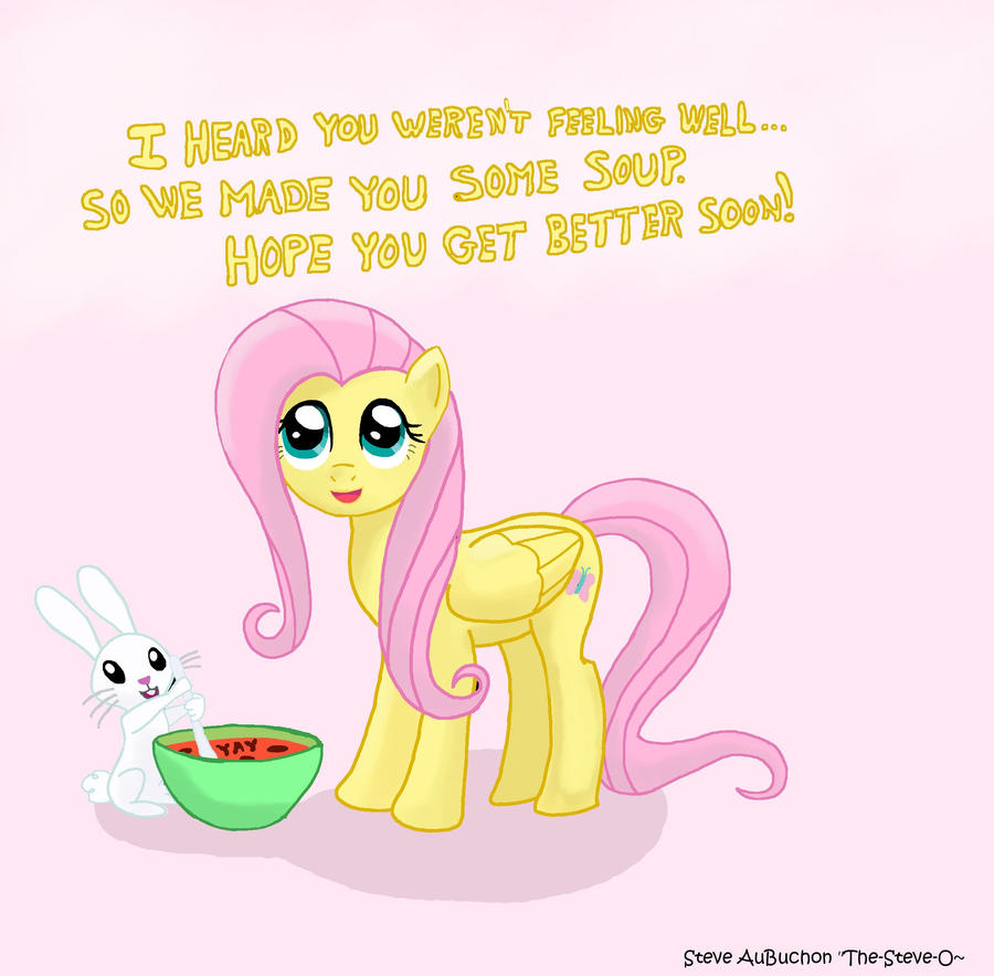 fluttershy get well card by auburn ink on deviantart