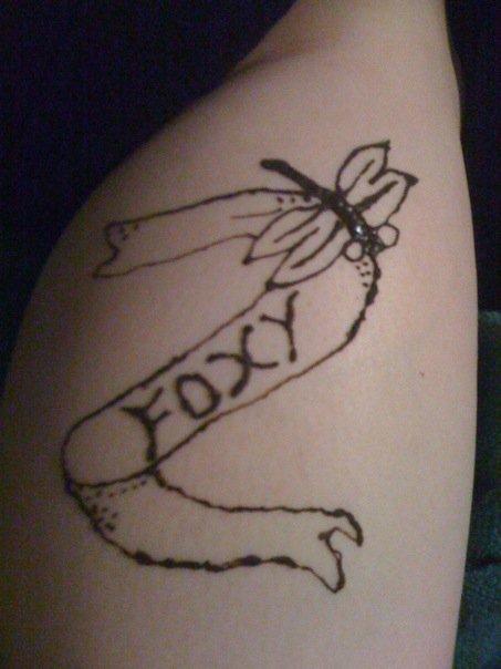 dragonfly foxy henna - dragonfly tattoo