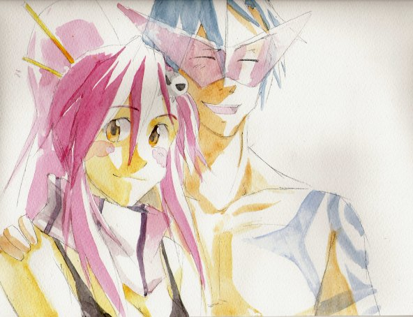 Yoko and Kamina by DonPixe on DeviantArt
