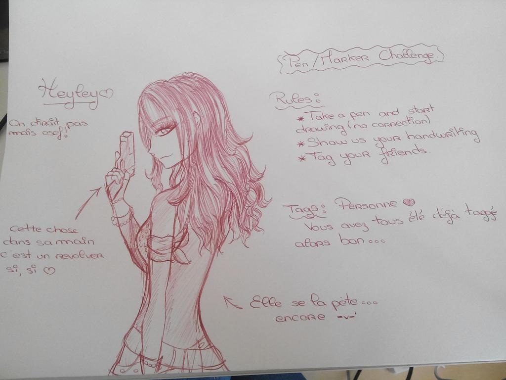 Pen/Marker Challenge by Laslina