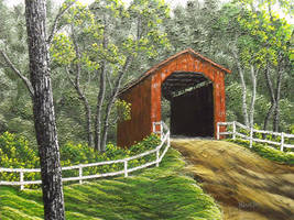 Sandy Creek Covered Bridge by DonBowling
