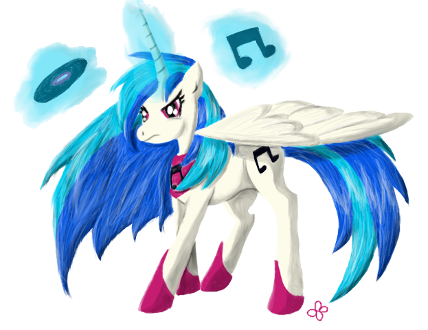 Alicorn Vinyl Scratch by Brookreed
