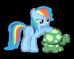 Rainbow Dash and Tank Vector