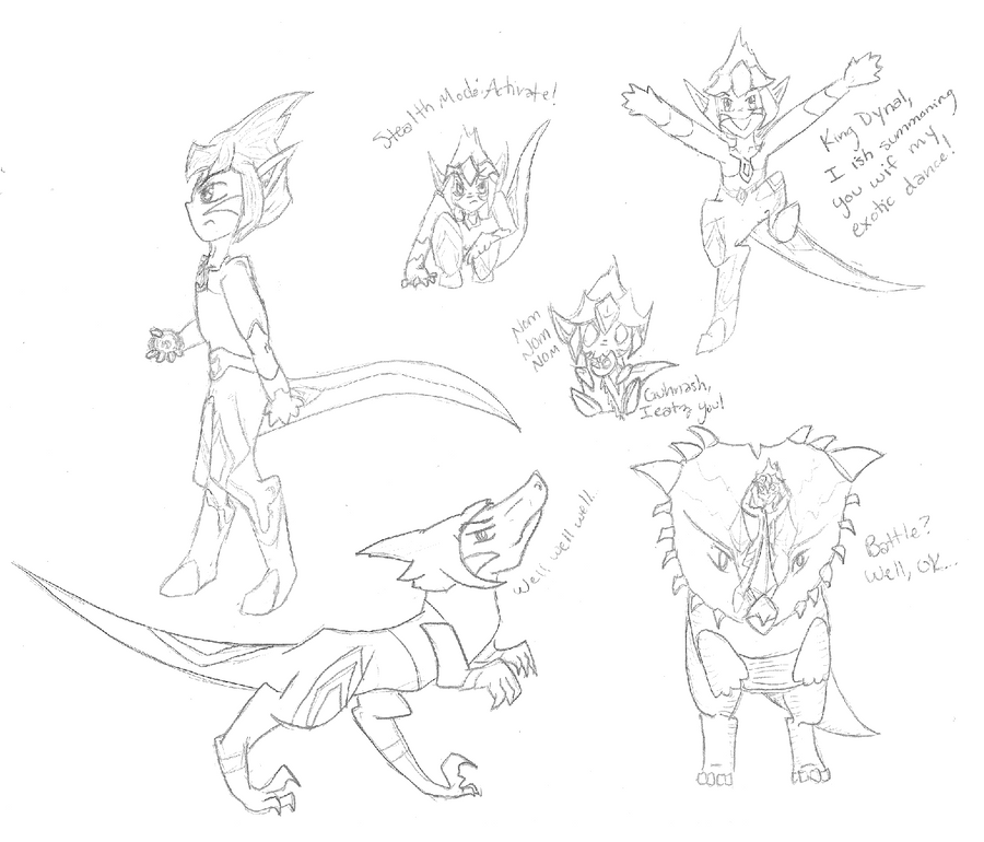Raptin Sketchdump by Brookreed