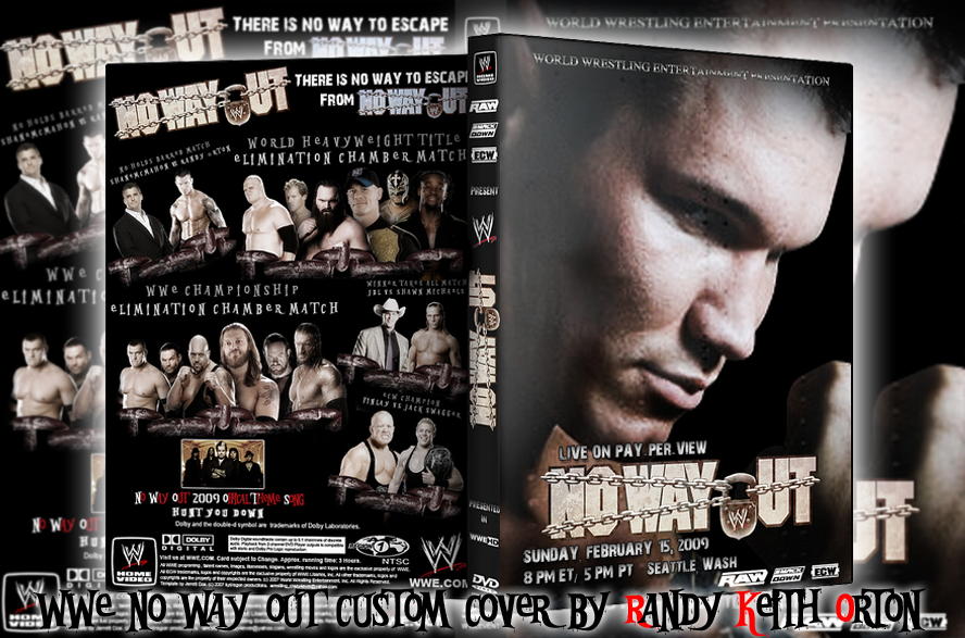 No Way Out Custom Cover by Randy-Keith-Orton