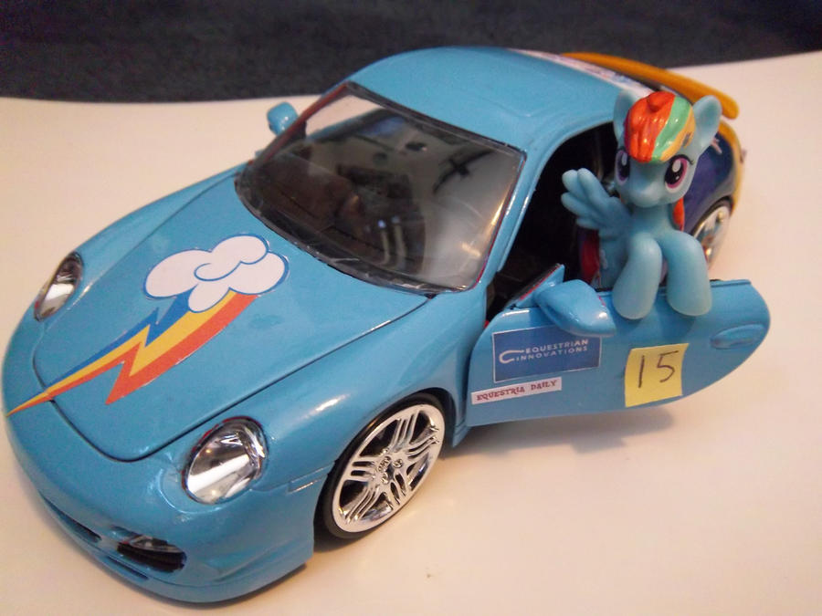 Rainbow Dash and Porsche by eaglehooves