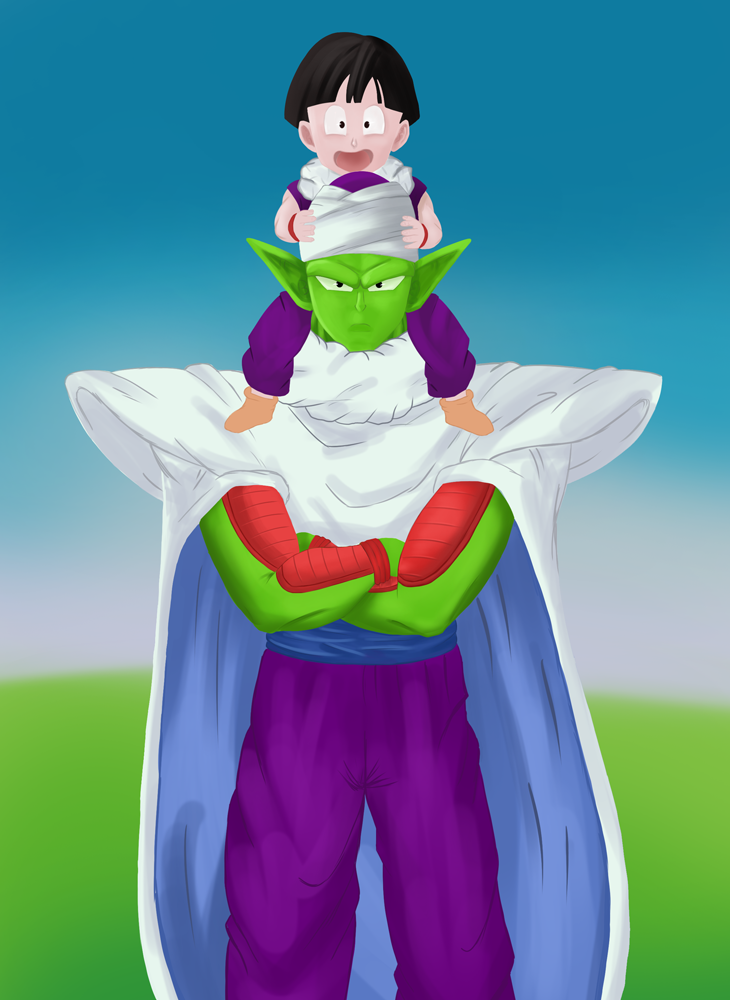 Piccolo and Gohan by fostenes