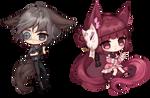 [Commission] Axel + Miaka
