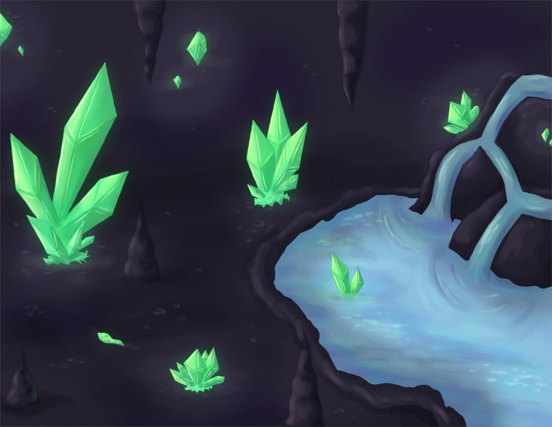 Obsidian Cave By Rika Of Thunder On Deviantart