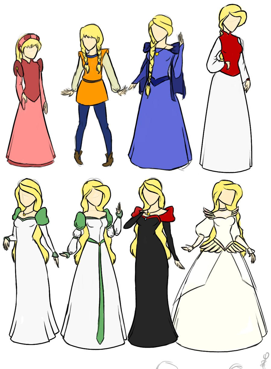 Swan Princess Dresses by WhateverCat