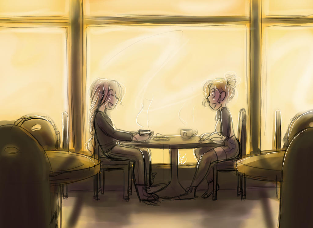 Afternoon Cafe by WhateverCat