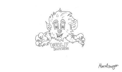 Skribble wolf by FromMarcelD
