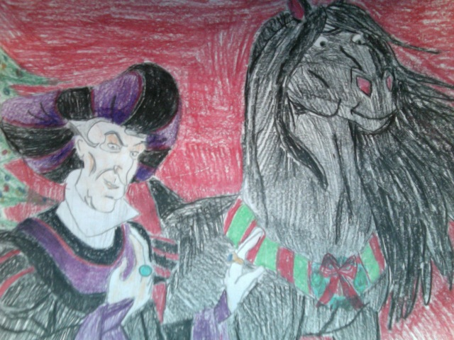 Happy Holidays From Frollo And Snowball by FireNationPhoenix