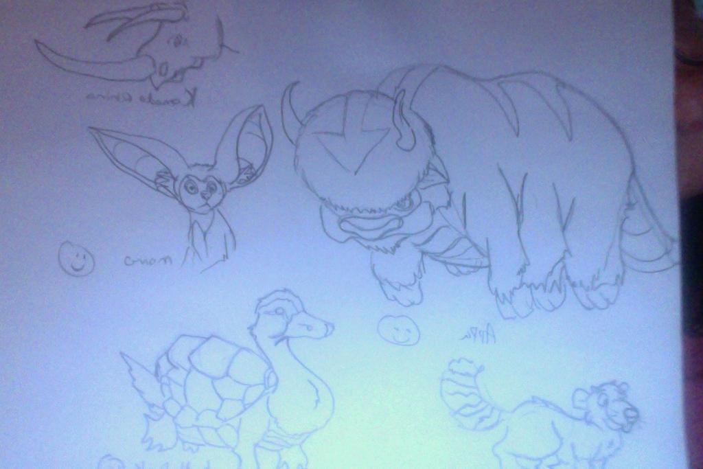 Avatar Animals Plus a Beavecoon by FireNationPhoenix