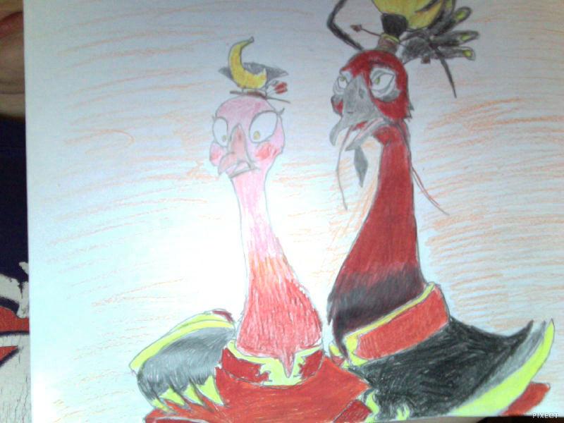 Ursa and Ozai Peacocks by FireNationPhoenix